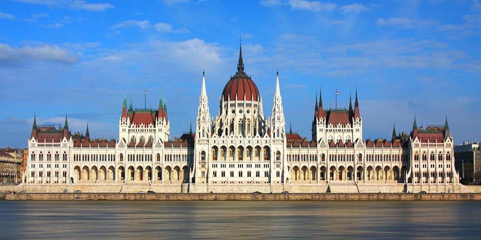 Parlamentet i Budapest.