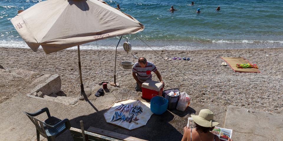 Stranden i Paleo Faliro.