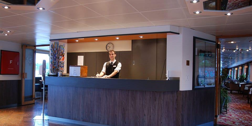 Receptionen på MS Arlene - Krydstogt på Mosel og Rhinen