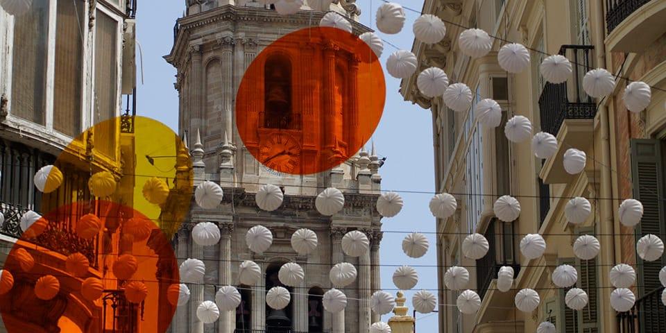 Kreativ julepynt i Málaga.
