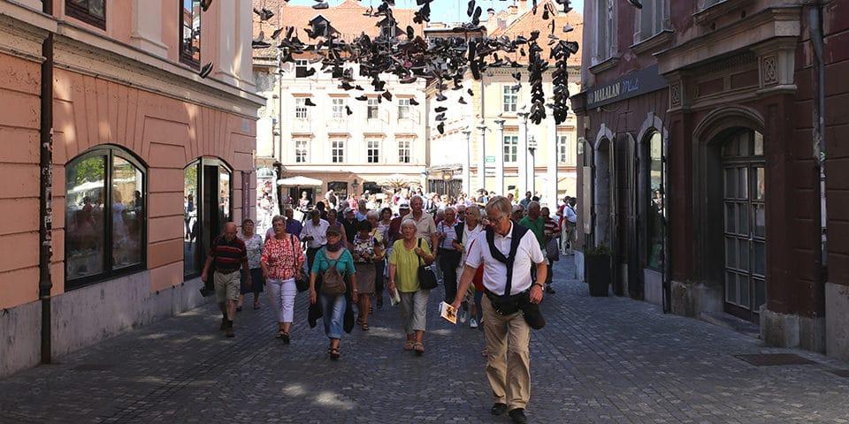 Foto: rejselederen viser rundt i den smukke slovenske hovedstad