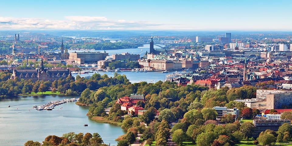 Udsigt over Stockholm, Sverige - Krydstogt i Østersøen