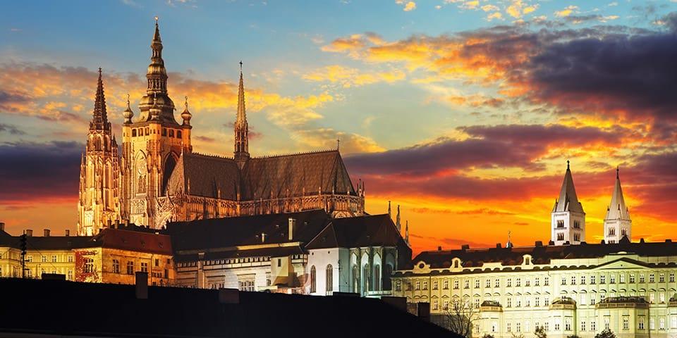 St Vitus Katedralen og Hradcani slottet - Prag