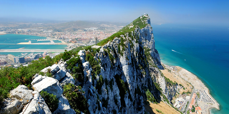 Gibraltarklippen The Rock.