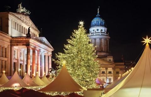 Juletræ på Vestberlin Julemarked