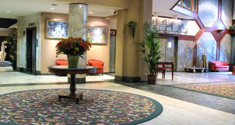 Lobbyen på Hotel Bedford i Bruxelles.