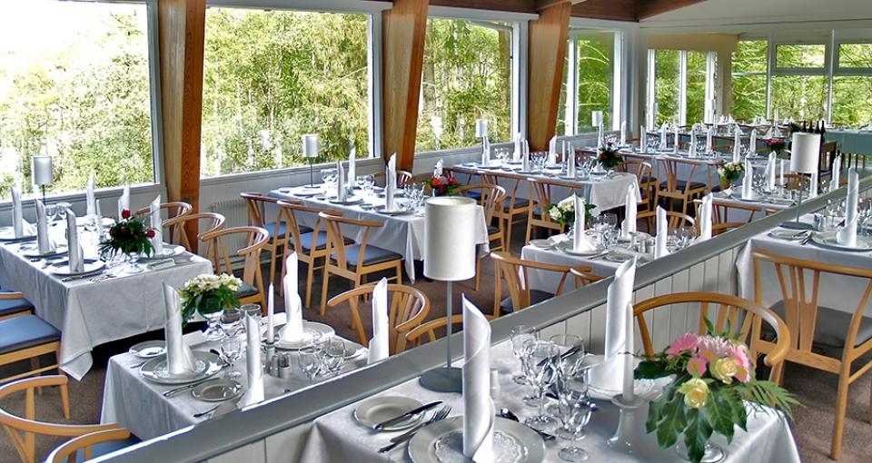 Restauranten på Rold Storkro.