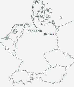 Kort over Berlin i Tyskland