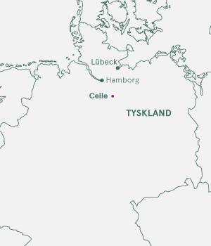 Kort over Tyskland og Celle