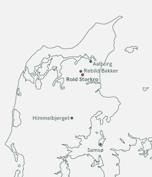 Kort over Rold Skov og Rebildfesten