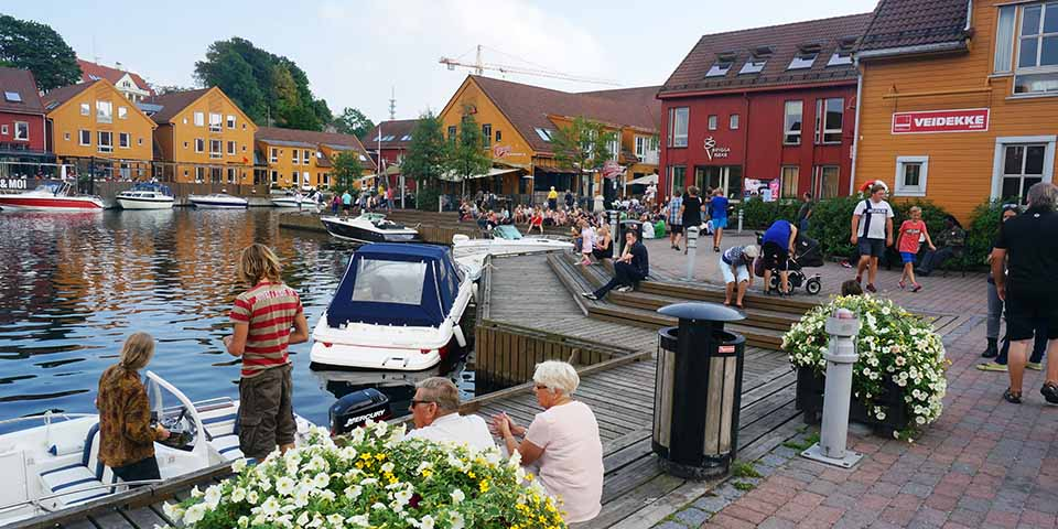 Havnen i Kristiansand.