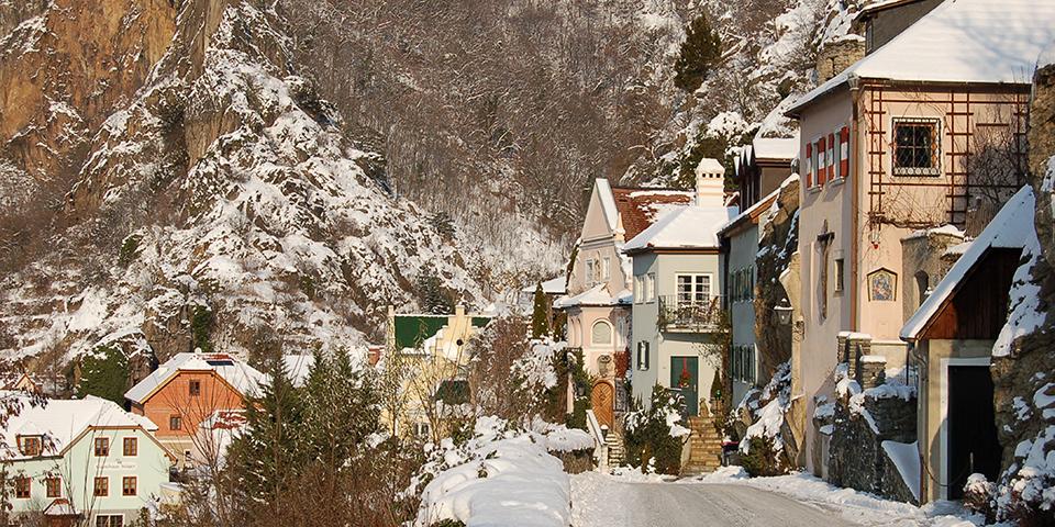 Vinteridyl i Dürnstein.