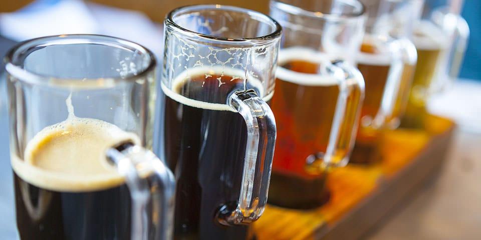 Smagsprøver på det gode polske øl.