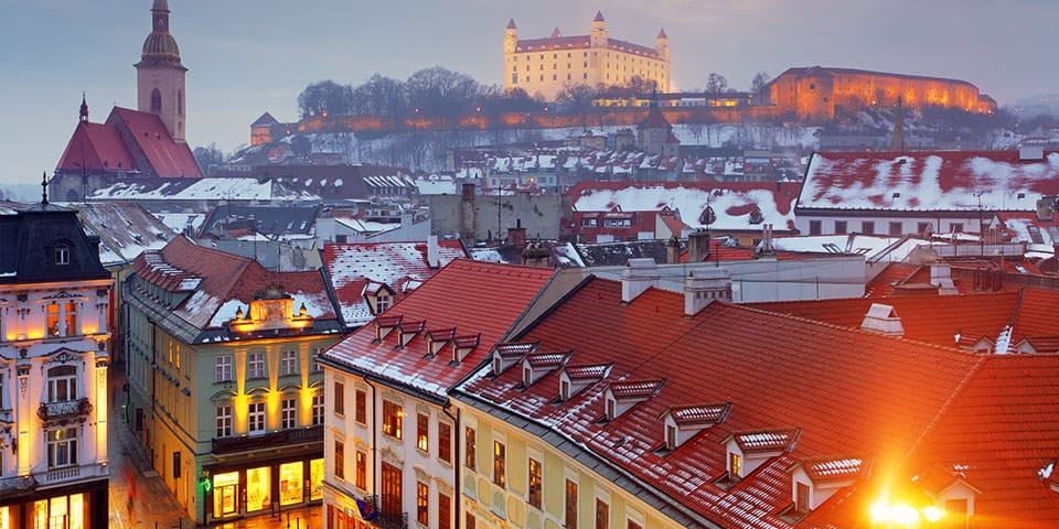 Hyggelige Bratislava klædt i vinterklæder