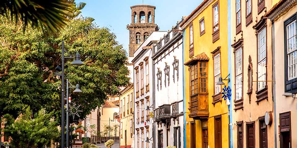 Den gamle bydel i La Laguna, der er på UNESCO´s Verdensarvsliste.