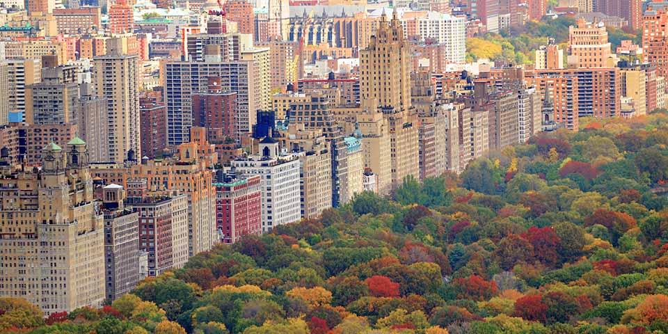 Central Park i efterårsklæder.