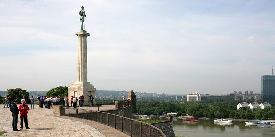 Kalemegdan-fæstningen i Beograd.