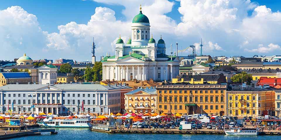 Havneområdet i Helsinki.