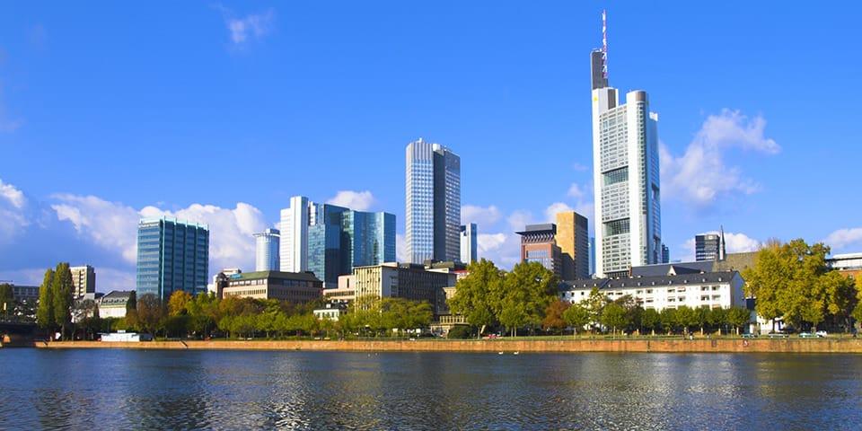 Frankfurt - en af verdens vigtigste finansbyer.