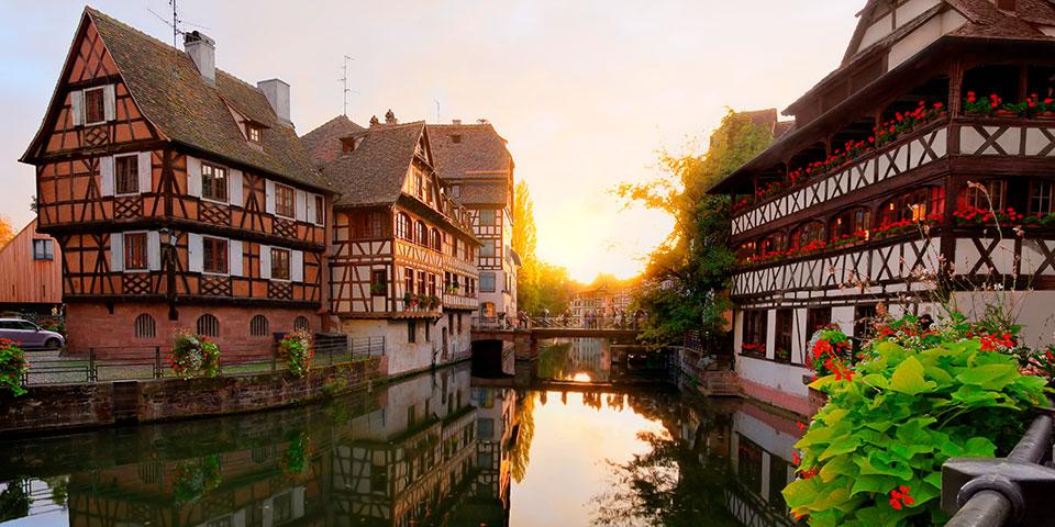Der er dømt bindingsværkidyl i Strasbourg.