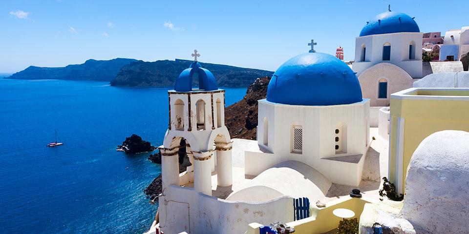 Idylliske Oia på Santorini.