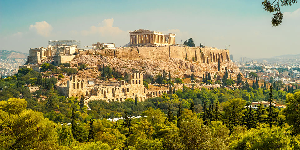 Akropolisklippen i Athen.