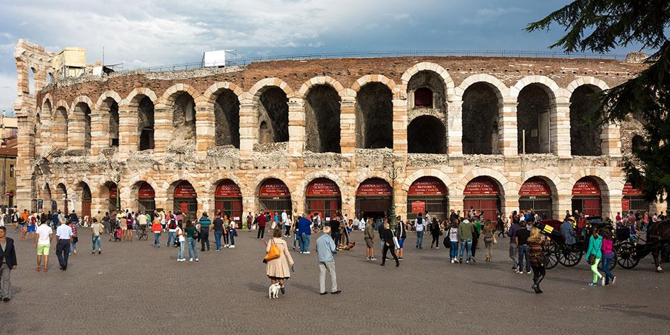 Det verdensberømte amfiteater i Verona.