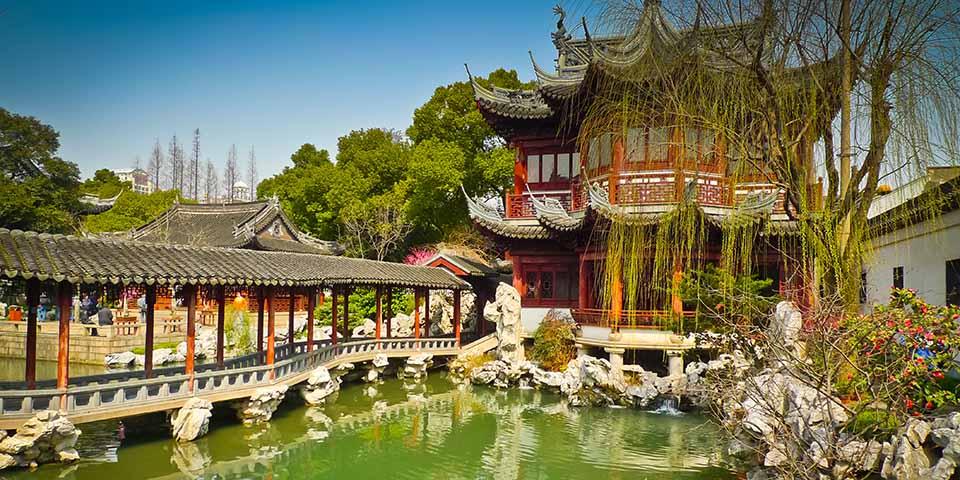 Den smukke Yuyuan garden i Shanghai er et smukt syn.