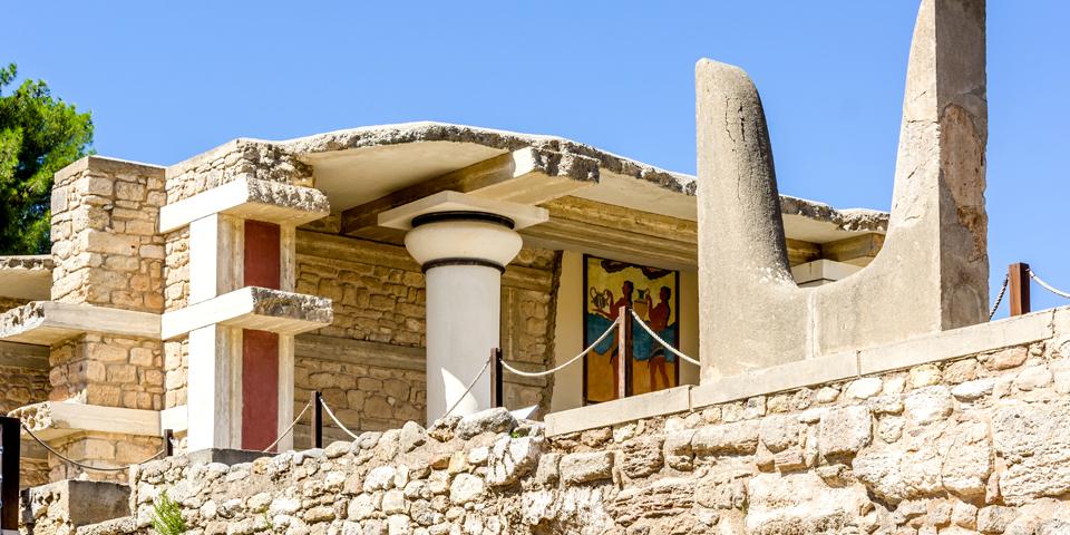 Ruinerne af det 4.000 år gamle palads Knossos.