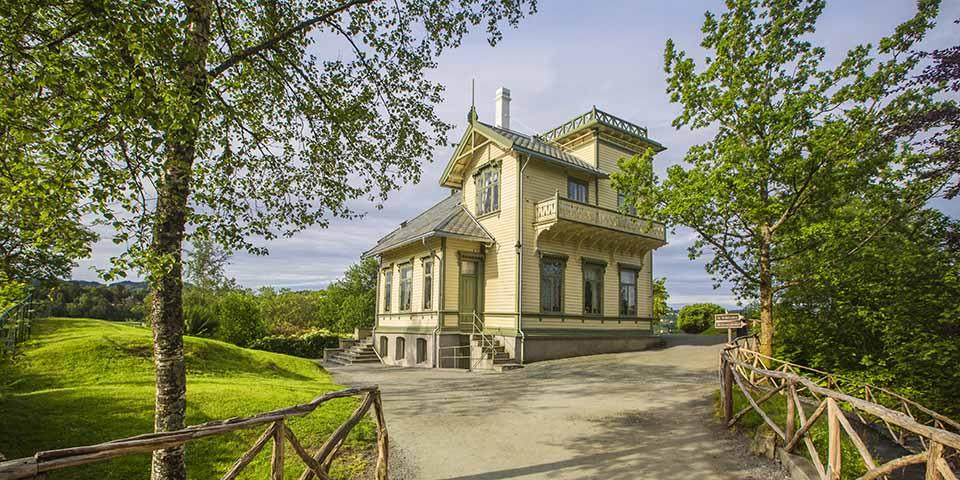 Den norske komponist Edvard Griegs hjem Troldhaugen.