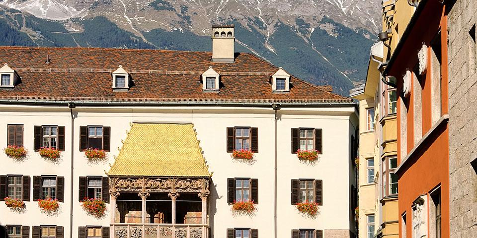 Det smukke gyldne tag i Innsbruck.
