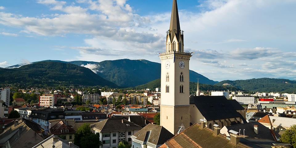 Villach tæt på Kärnten.