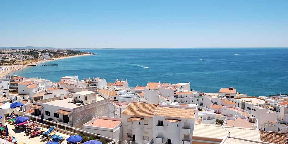Udsigt over Albuferia og Algarvekysten.