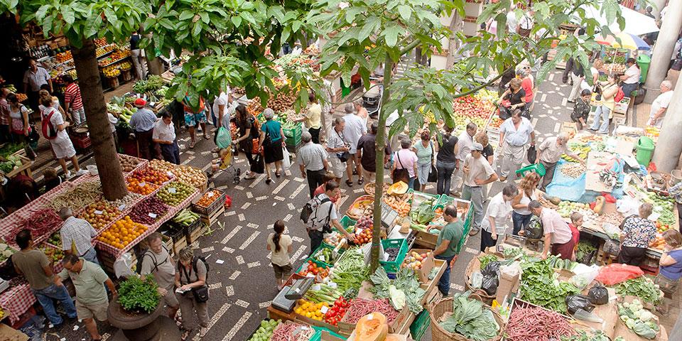 Frugtmarked i Funchal.