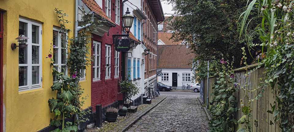 De charmerende gader i Aalborg.