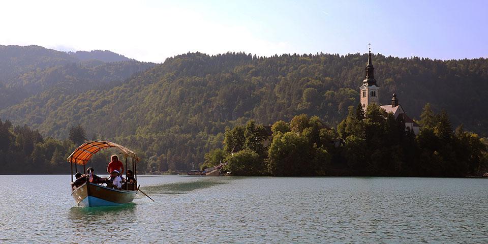 Idylliske Bled i Slovenien.