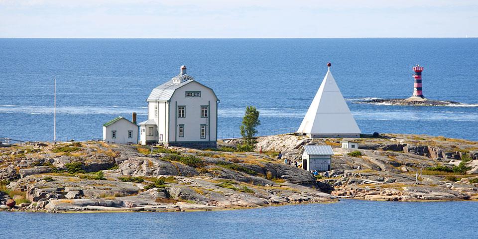 Kobba Klintar ved Ålandsøerne.