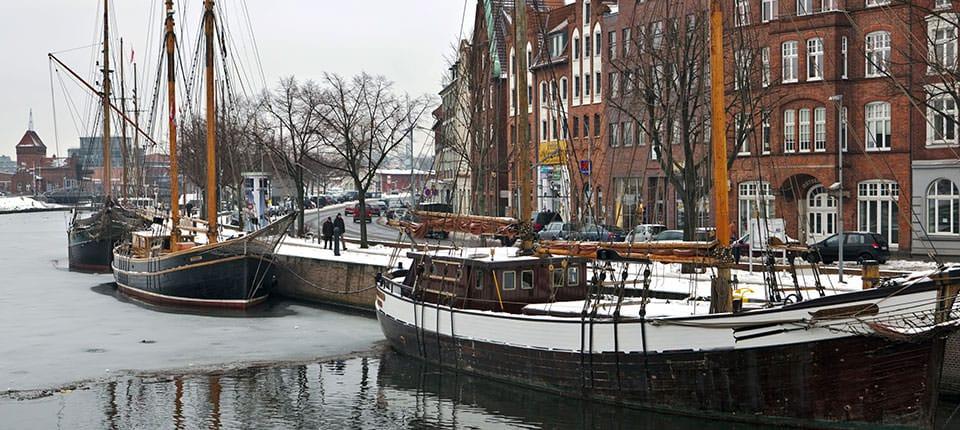 Floden Trave løber gennem Lübeck.
