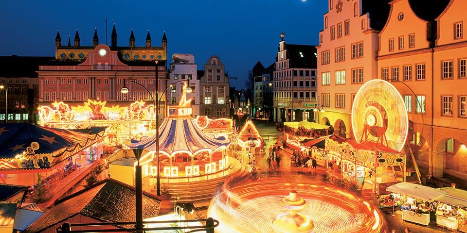 Julemarked i Rostock.