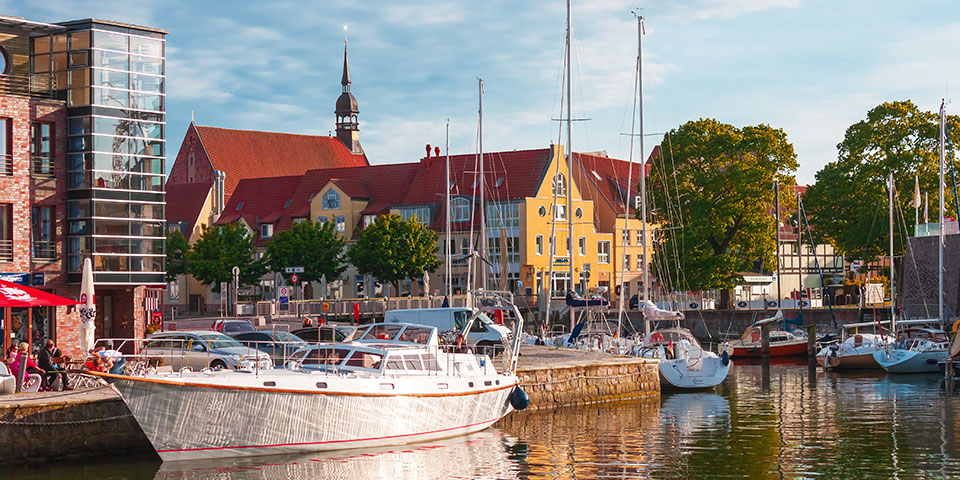 Den hyggelige havn i Stralsund.