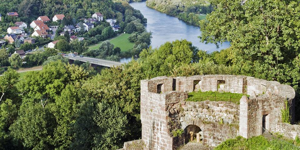 Slotsruinen i Wertheim.