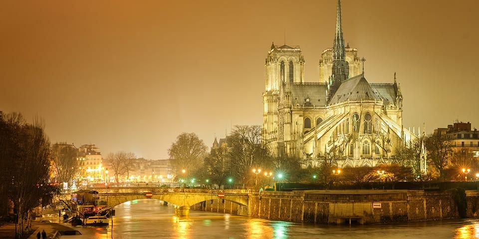 Paris og Seinen ved vintertide, Notre Dame