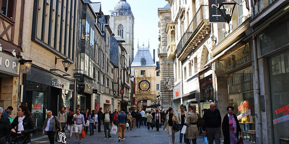 Middelalderbyen Rouen.