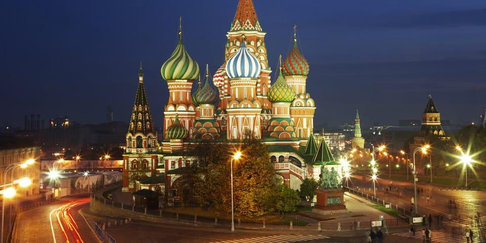 Aften i Moskva med St. Basil - Moskva - Skt. Petersborg