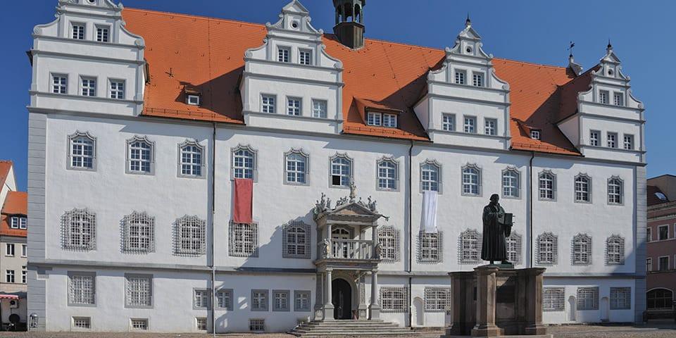 Rådhuset i Wittenberg.