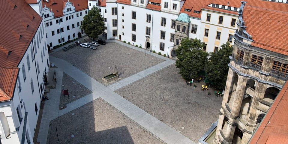 Slotsgården i Torgau.
