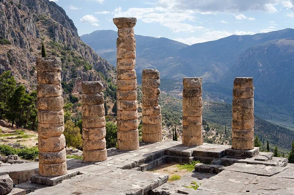 Apollons tempel i Delfi - Kulturrejse i Grækenland