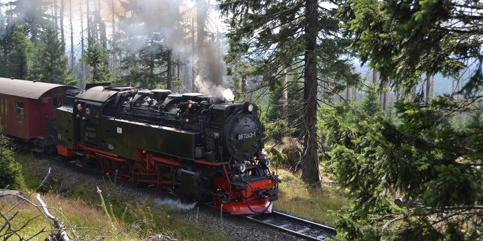 Den berømte Harzer Schmalspurbahn.