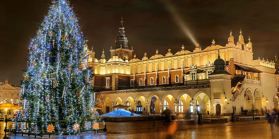 Det er ikke svært at komme i julestemning i Krakow.