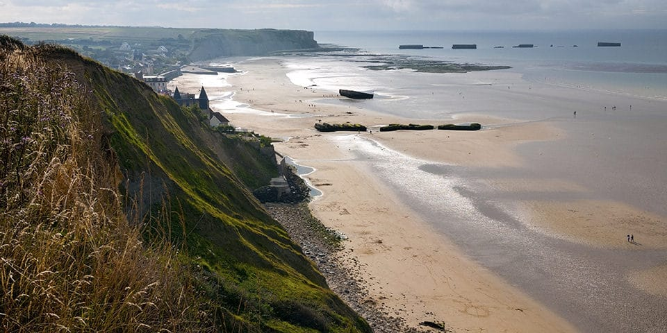 Stranden i Arromanches.